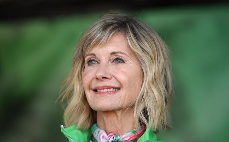 ÂMELBOURNE, AUSTRALIA - SEPTEMBER 16: Olivia Newton-John during the annual Wellness Walk and Research Runon September 16, 2018 in Melbourne, Australia. The annual event, now in it's sixth year, raises vital funds to support cancer research and wellness programs at the Olivia Newton-John Cancer Wellness and Research Centre in Victoria. (Photo by Scott Barbour/Getty Images)