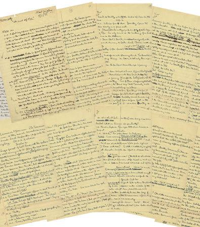 """Profiles in History image of the original handwritten first draft script for the beloved film """"The Wizard of Oz\"""