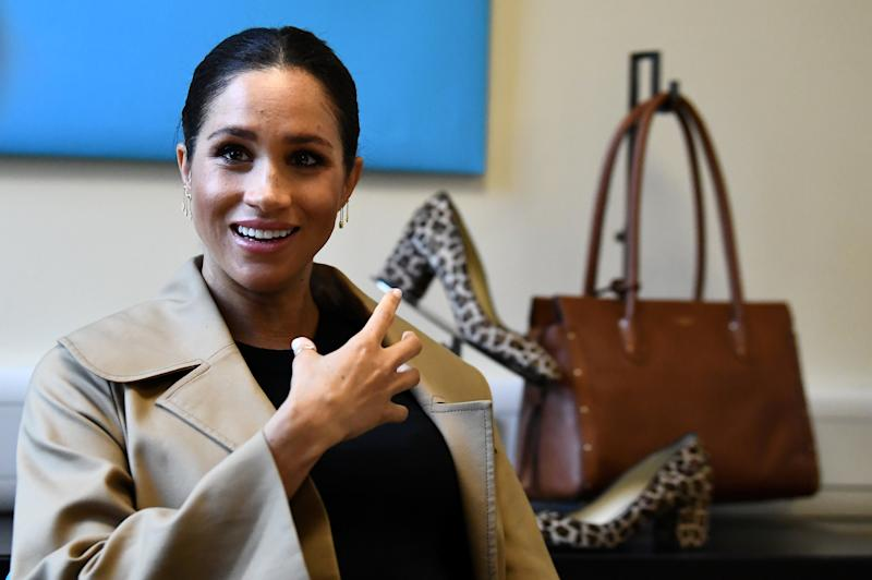 Meghan at Smart Works London office in January. [Photo: PA]