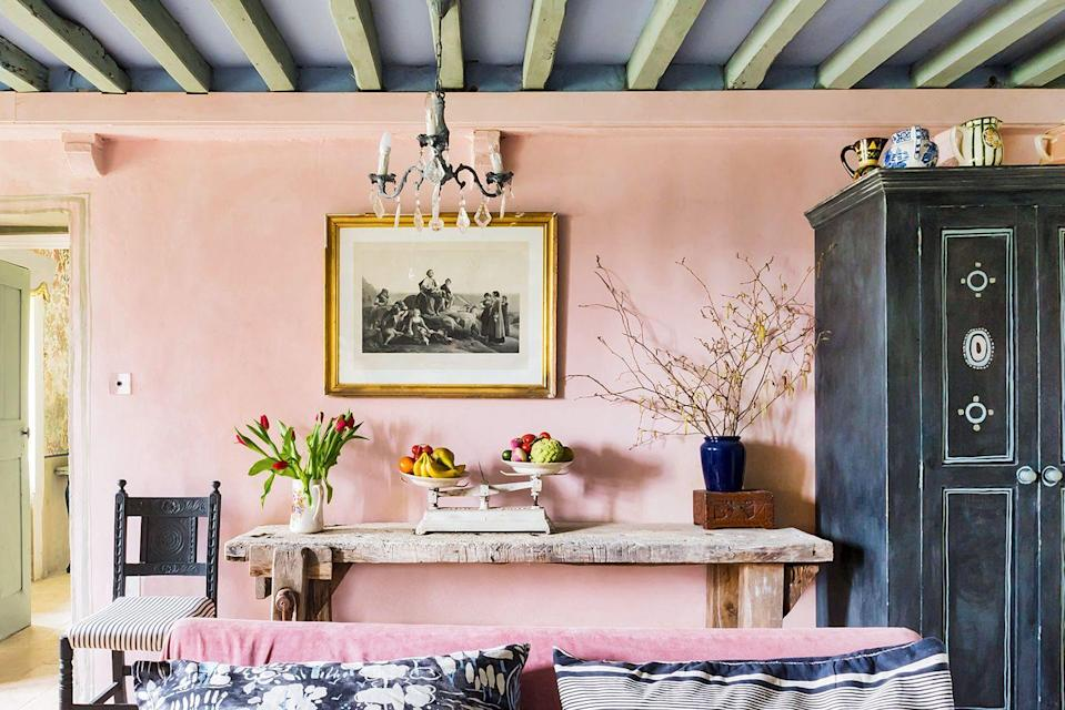 <p>Chalk paint looks beautiful in a variety of environments, but it's particularly well suited for shabby chic spaces. The beautifully aged effect fits right in here in Annie Sloan's retreat in Normandy, France. </p>