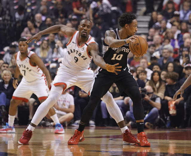 DeMar DeRozan is clearly still not over being traded from Toronto. (John E. Sokolowski/Reuters)