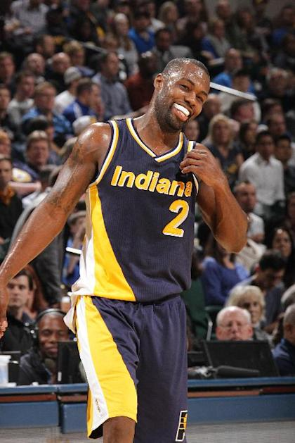Rodney Stuckey smiles like a man about to be paid handsomely. (Ron Hoskins/NBAE/Getty Images)