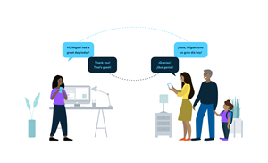 The TalkingPoints multilingual technology platform connects and empowers families and teachers by using human and AI-powered, two-way translated communication and personalized content.