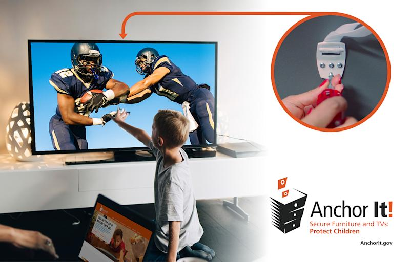 Anchor TVs and furniture to keep kids safer.