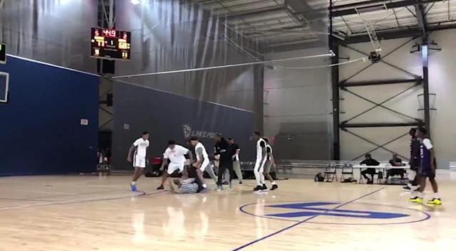 Massive brawl erupts between players, officials at AAU basketball game