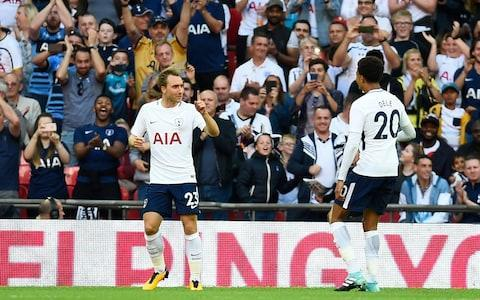<span>Spurs beat Juventus at Wembley in pre-season, and will hope they have overcome their problems there</span> <span>Credit: EPA </span>