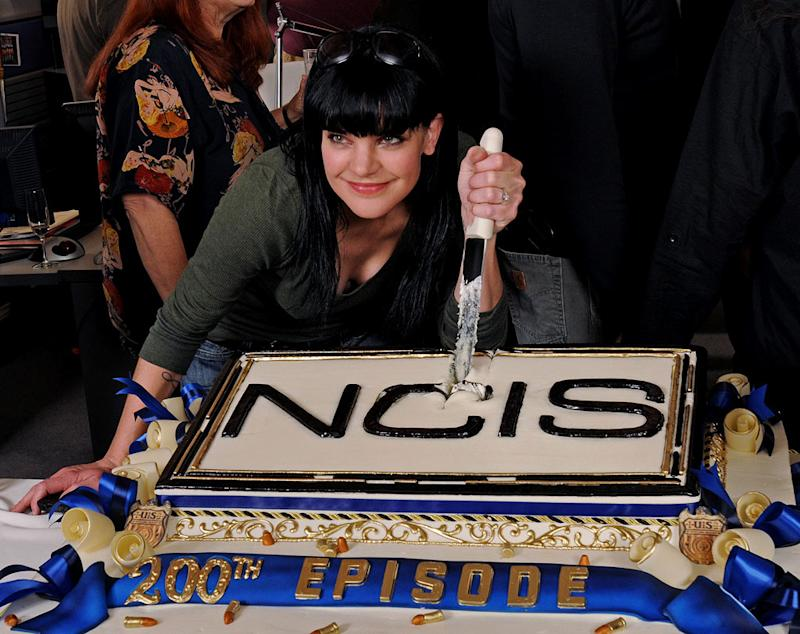 """Pauley Perrette attends CBS' """"NCIS"""" celebration of their 200th episode on January 3, 2012 in Valencia, California."""