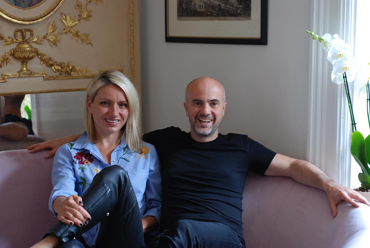 """<p>Daniel Roy, pictured with his partner Radana Lancman, says he will accept sterling, but that he is also open to offers """"in excess of 500 Bitcoin"""". However, while the buyer will able to buy the house with Bitcoin, they will still have to use Sterling when paying stamp duty – which will be around £110,000.(SWNS.com) </p>"""