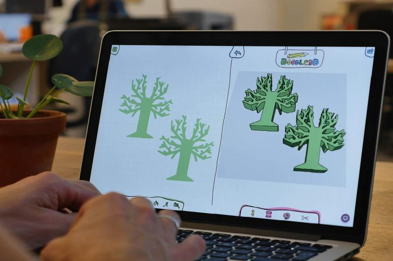 New app lets kids turn 2D drawings into 3D-printable models with ease