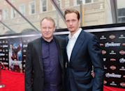 <p>Yeah, Swedish actor (and <em>Mama Mia! </em>star) Stellan Skarsgard is the father of celebs Alexander and Bill Skarsgard. (Hence, the last name.)</p>