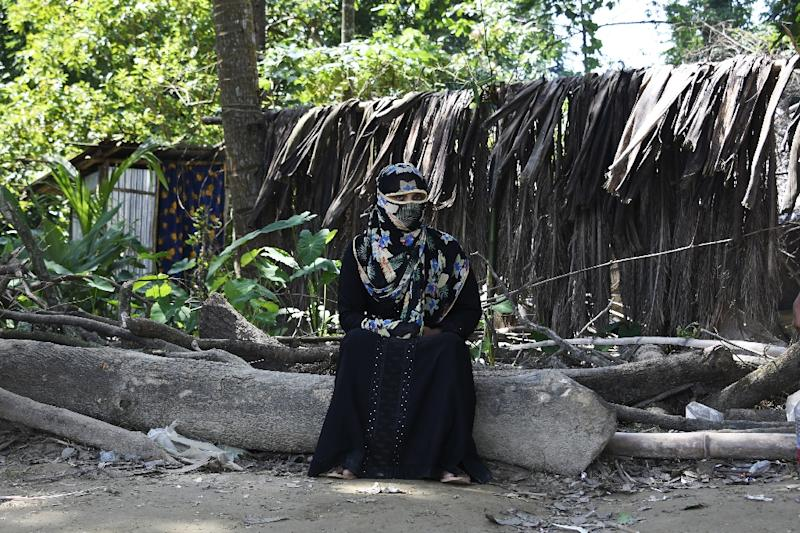 Shamila, a 25-year-old Rohingya refugee victim of rape, soldiers broke into her home in Myanmar and gang-raped her in front of her children (AFP Photo/DOMINIQUE FAGET)