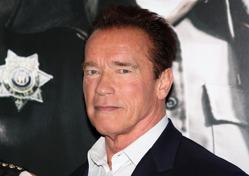 """Arnold Schwarzenegger seen at a photo call for  the film """" The Last Stand"""" in London Tuesday Jan. 22. 2013 . (Photo/Jon Furniss Photography/Invision/AP)"""