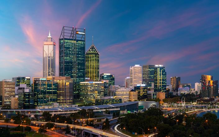 Our reporter has been staring at the Perth skyline for the best part of a fortnight