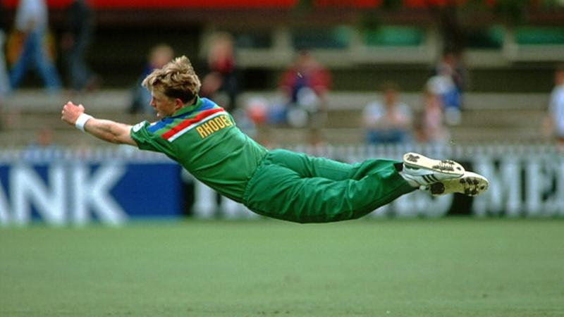 Jonty Rhodes in action for South Africa