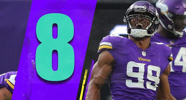 <p>The Vikings made the Lions look terrible with 10 sacks. Is that the sign the somewhat dormant Vikings defense is back? If that's a sign of things to come, don't sleep on the Vikings the rest of this season. (Danielle Hunter) </p>