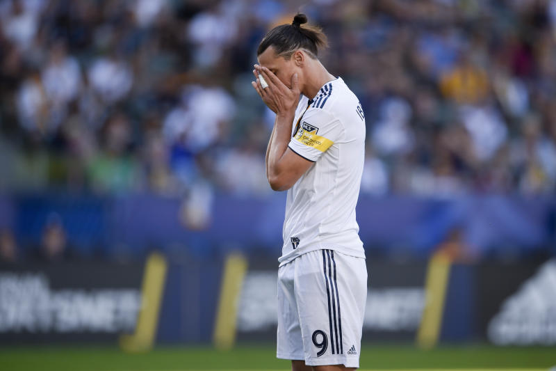 Zlatan Ibrahimovic is moving on after two seasons with the Los Angeles Galaxy. (AP Photo/Kelvin Kuo)
