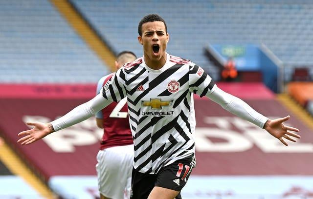 Mason Greenwood scored Manchester United's second goal in their win at Aston Villa.