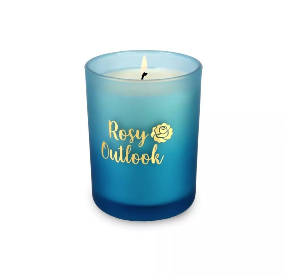 <p>Housed in a chic indigo-blue frosted glass vessel, this <span>Disney Princess X POPSUGAR Belle Candle</span> ($13) has a berry rose scent that's sure to put you in an optimistic mood.</p>