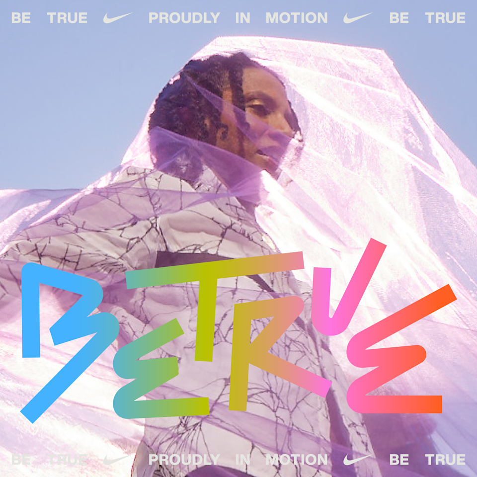 """Janaya Future Khan stars in Nike's """"Proudly in Motion"""" campaign for its Be True collection. - Credit: Courtesy of Nike"""