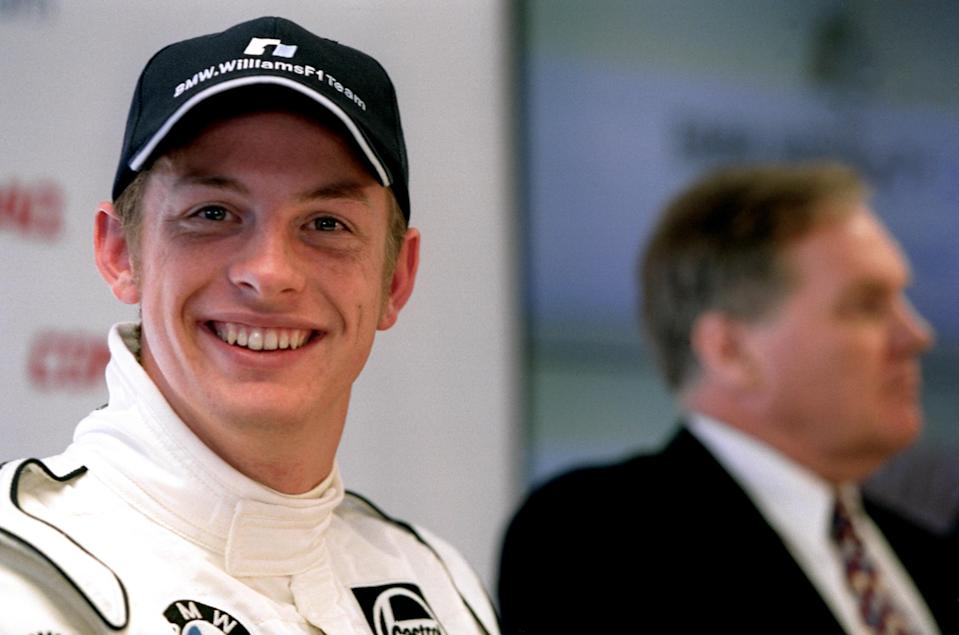 Jenson Button is pleased to be the new Williams driver as technical director Patrick Head looks on