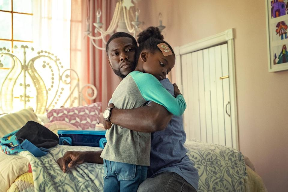 "<p>Based on the book <strong>Two Kisses for Maddy: A Memoir of Loss &amp; Love</strong> by Matthew Logelin, <strong>Fatherhood</strong> follows a single dad raising his daughter after the unexpected loss of his wife. The film features Kevin Hart, Alfre Woodard, Lil Rel Howery, DeWanda Wise, Anthony Carrigan, Melody Hurd, and Paul Reiser.</p> <p><strong>When it's available: </strong><a href=""https://www.netflix.com/title/81435227"" class=""link rapid-noclick-resp"" rel=""nofollow noopener"" target=""_blank"" data-ylk=""slk:June 18"">June 18</a></p>"