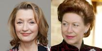 """<p>In July, Netflix announced Lesley Manville, who acted in <em>Maleficent</em>, will be the third actress to play Princess Margaret. Along with the news, <a href=""""https://www.oprahmag.com/entertainment/tv-movies/a30728358/the-crown-season-5-cast-release-date-photos-news/"""" rel=""""nofollow noopener"""" target=""""_blank"""" data-ylk=""""slk:she stated"""" class=""""link rapid-noclick-resp"""">she stated</a>, """"I could not be happier to be playing Princess Margaret. The baton is being passed on from two formidable actresses, and I really don't want to let the side down. Furthermore to play siblings with my dear friend Imelda Staunton will be nothing short of a complete joy.""""</p>"""