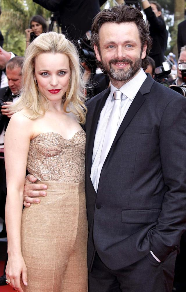 Rachel McAdams and Michael Sheen in Cannes, France. (Photo: Michel Dufour/WireImage)