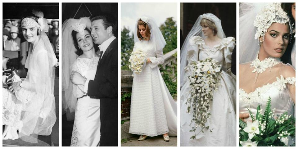 <p>Let's embark on a 100-year journey through the history of nuptials, shall we?</p>