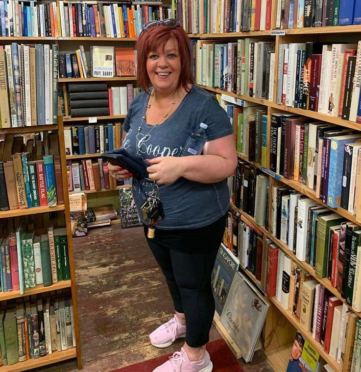 Picture of Kerry Ann Norton in 2018 at a book store.