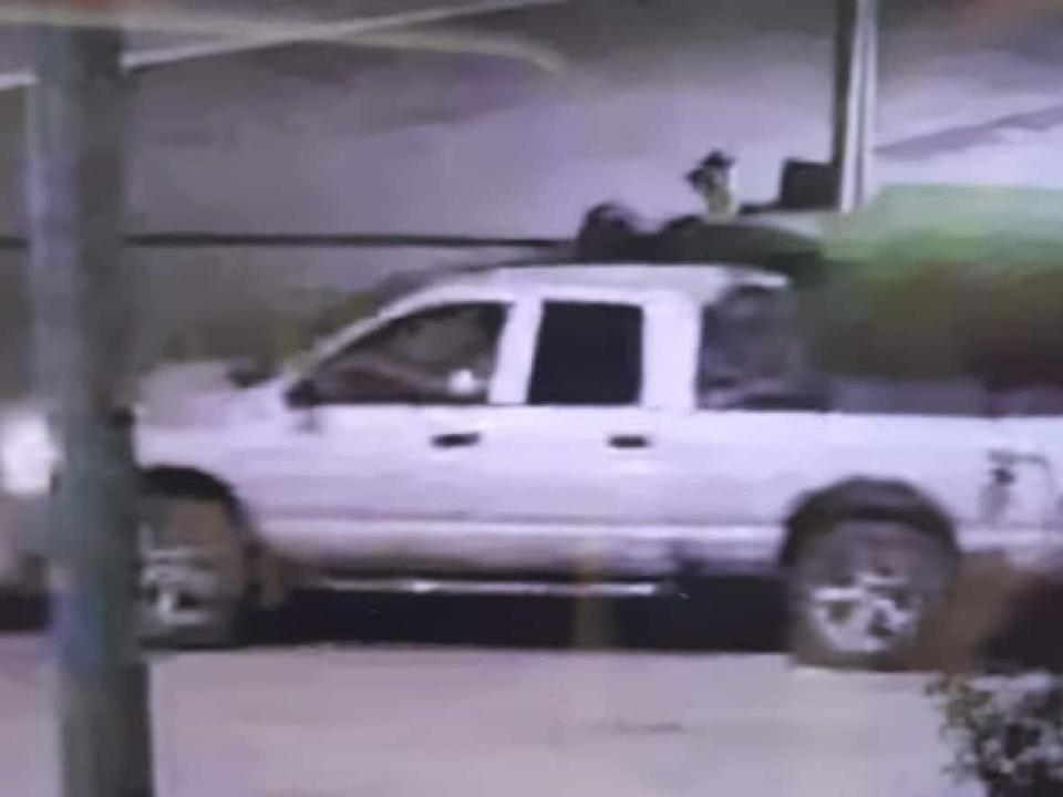 Police have seized a silver 2007 Dodge Ram in connection with a fatal hit and run that happened on Oct. 1 in southwest Calgary.  (Calgary Police Service - image credit)