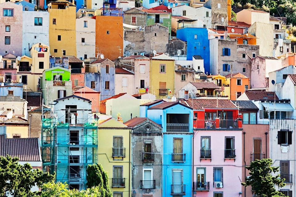 <p>A history of color on a Sardinian hillside.</p>