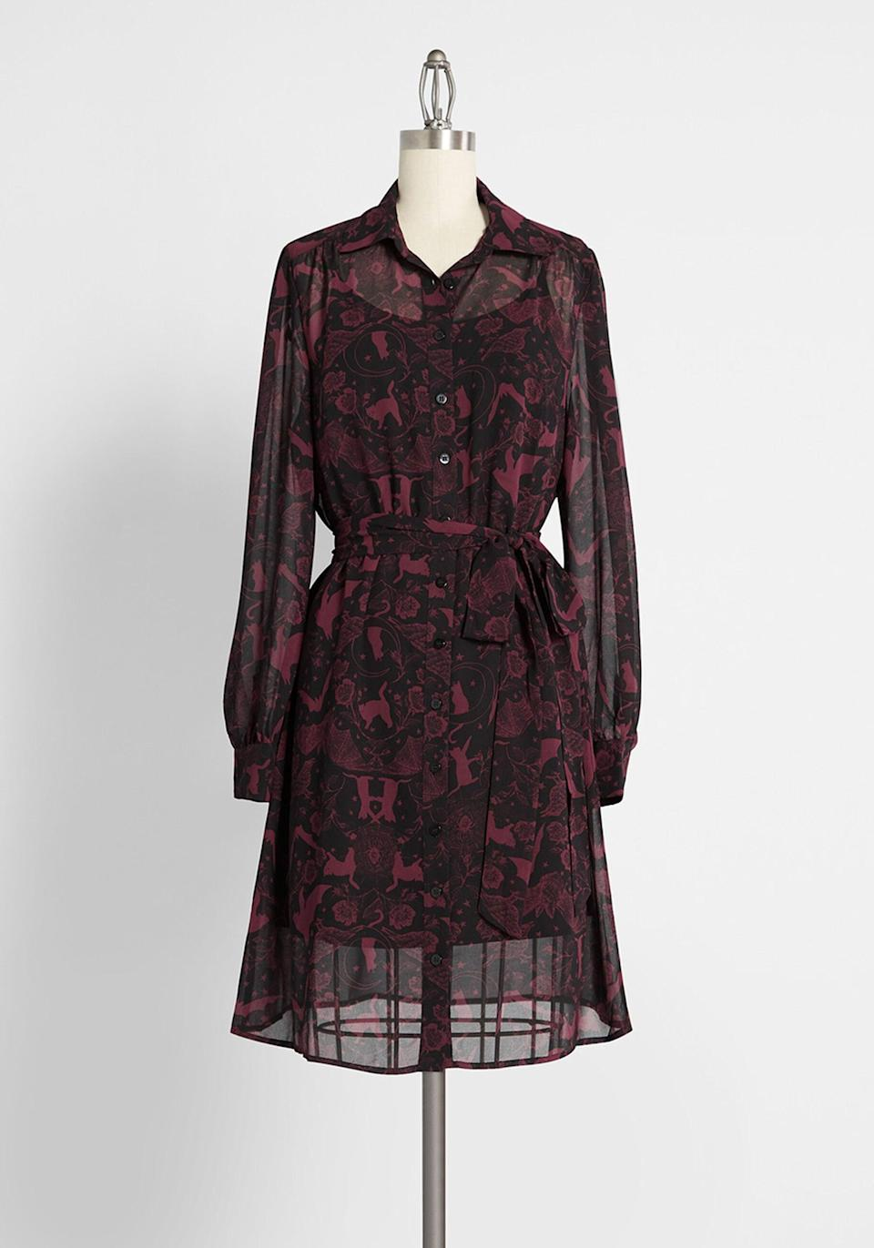 <p>The <span>Classic Captivation Shirt Dress</span> ($79) is spooky, but make it fashion.</p>