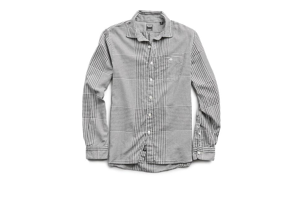 "$178, Todd Snyder. <a href=""https://www.toddsnyder.com/collections/sale/products/glen-plaid-flannel-black-1"" rel=""nofollow noopener"" target=""_blank"" data-ylk=""slk:Get it now!"" class=""link rapid-noclick-resp"">Get it now!</a>"