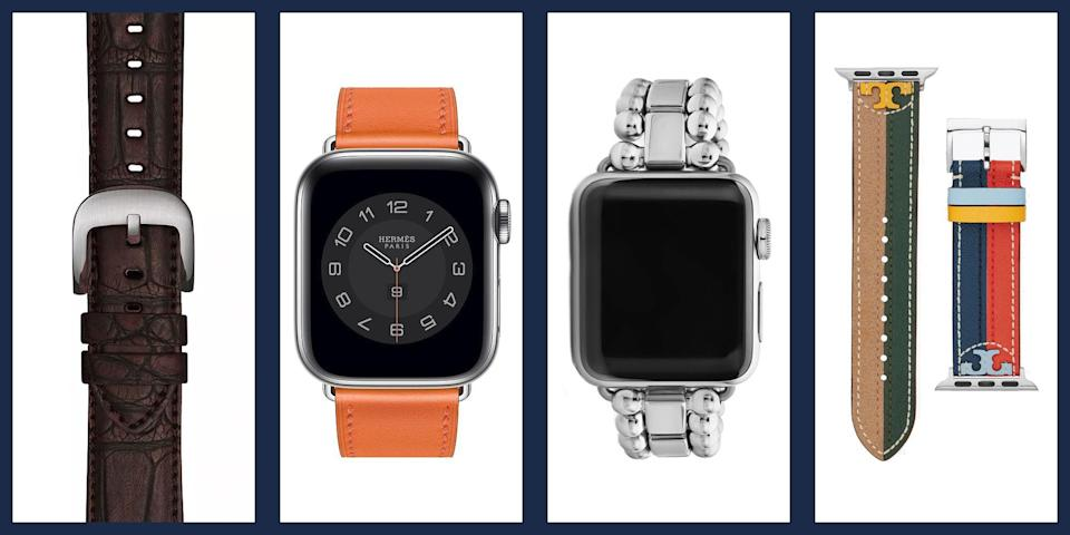 "<p>Since the smart watch boom started with the advent of the first Apple Watch in 2015, wearable tech has become and everyday essential for many, allowing them to connect to their phones, track their health, and manage their schedules with the flick of a wrist. Unfortunately, despite their convenience and innovation, smart watches have also long maintained a reputation for being... shall we say ""less than elegant."" Generic bands were far more functional than they were fashionable, leaving tech-loving fashion fans in quite a quandary. </p><p>Of course, that's all behind us now. With recent iterations of the Apple Watch—the most recent, the <a href=""https://www.apple.com/apple-watch-series-6/"" rel=""nofollow noopener"" target=""_blank"" data-ylk=""slk:Series 6"" class=""link rapid-noclick-resp"">Series 6</a>, has the ability to monitor blood oxygen levels and take an electrocardiogram as well as new case colors—designers have embraced the opportunity to create truly luxurious, stylish bands to pair with your go-to wrist accessory. Here, we've rounded up some of the essential looks to add to your rotation to make your Apple Watch a genuine style statement. </p>"