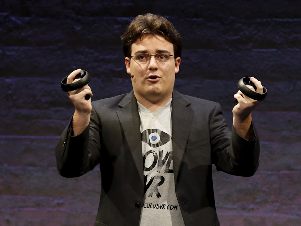 Palmer Luckey Oculus Rift founder Touch controllers