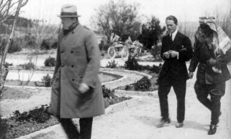 Winston Churchill, TE Lawrence and Emir Abdullah of Jordan