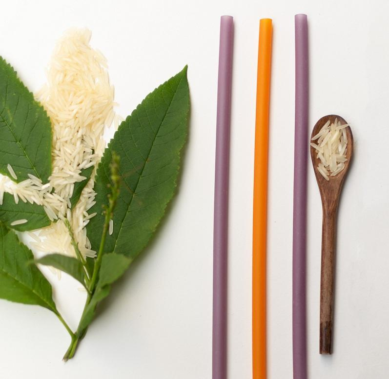 Edible rice straws from Smaart Eats are a sustainable alternative to Plastic straws