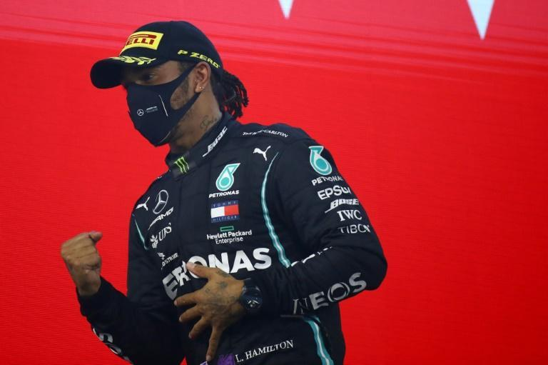 In the driving seat: Lewis Hamilton pulled 131 points clear at the top of the Formula One standings