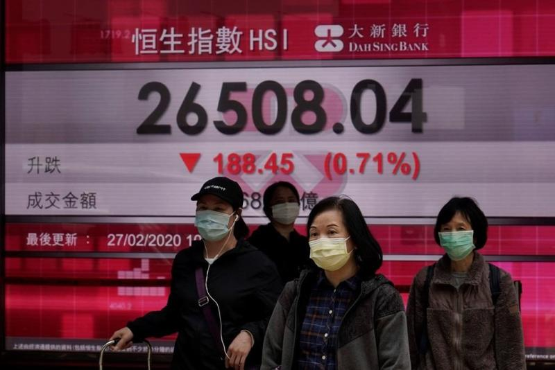 World stocks slide on signs virus outbreak is spreading