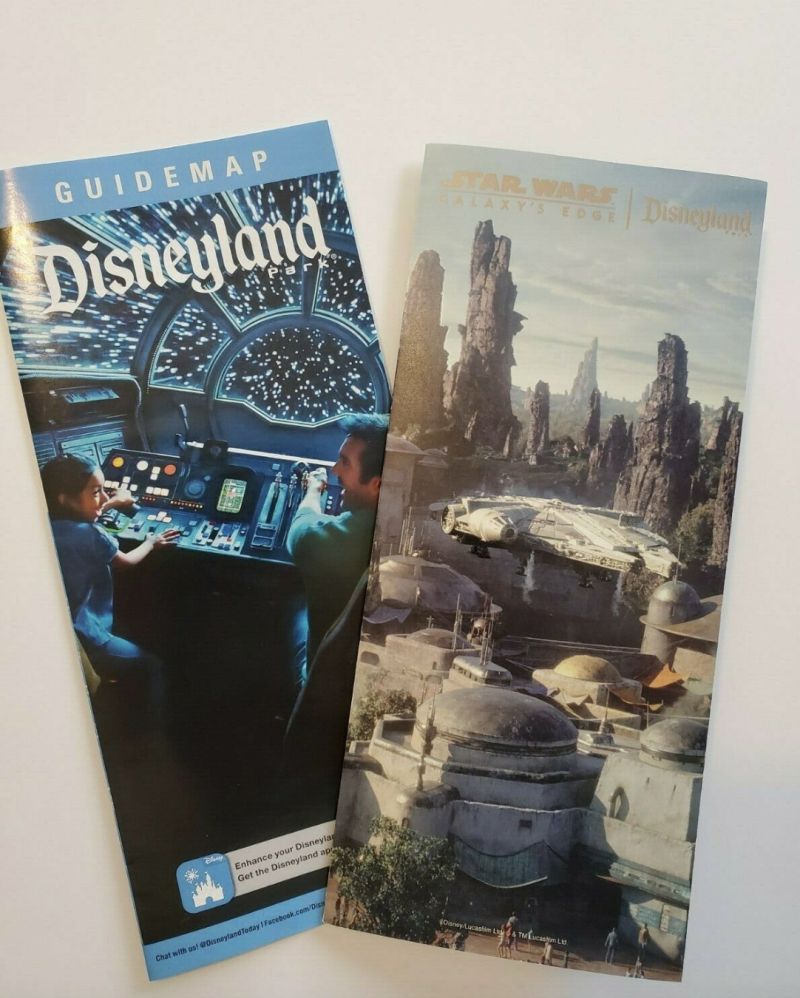 The maps for Disneyland's Star Wars Galaxy's Edge have been in high demand. (Photo: eBay.com)
