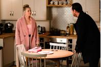 <p>He suggests she should be the one to find out more information from Max.</p>