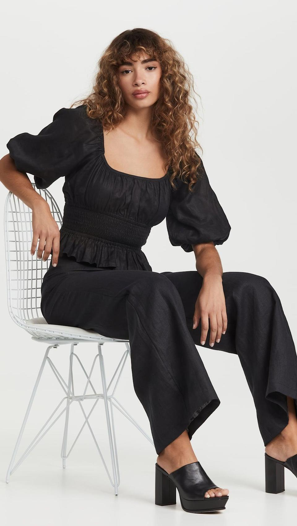 <p>This <span>Faithfull The Brand Kinsley Top</span> ($179) is one of those pieces you're going to want to wear everywhere. It's great with shorts, a skirt, jeans, pants, you name it.</p>