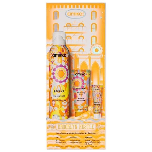 <p>Save on a dry shampoo, moisturizing mask, and leave-in cream with this top-rated <span>Amika Brooklyn Hustle Haircare Bestsellers Starter Set</span> ($25, originally $28).</p>