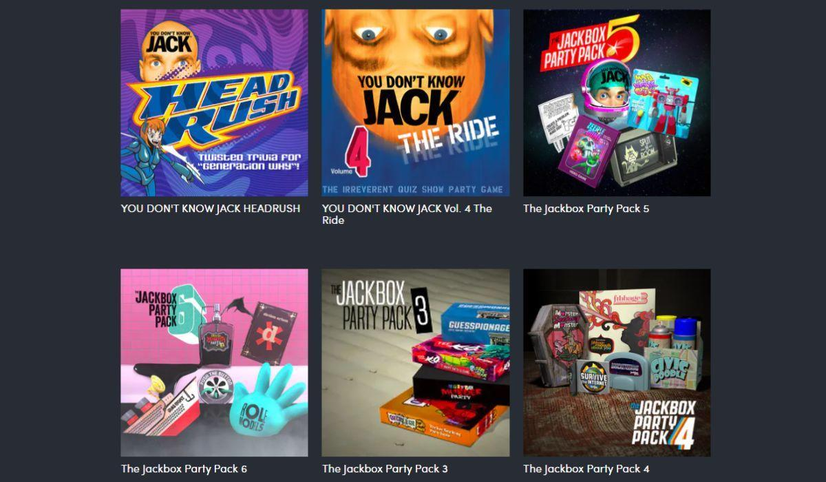 These are just some of the games included in the massive Humble Jackbox Summer Party Bundle, which offers enough entertainment for a month of parties. (Photo: Humble)