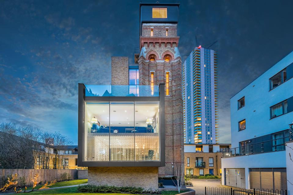 Sold: the £2m renovation of this water tower - which ran £1.4m over budget - pushed its former owners and their credit cards to the max (Foxtons)