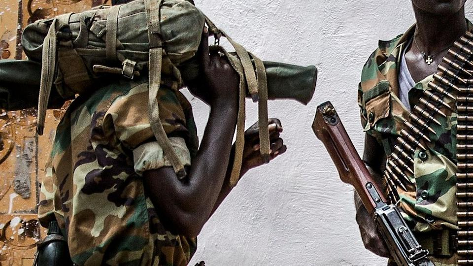 Heavily armed soldiers