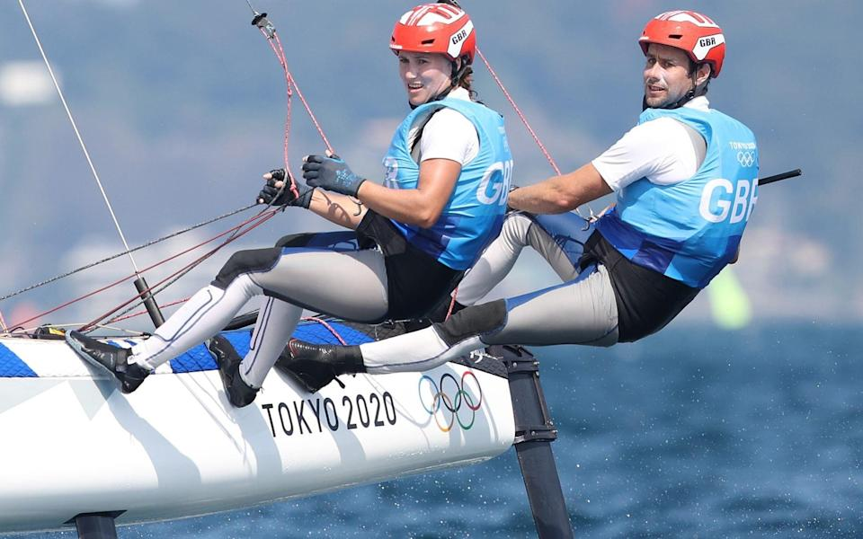 Gimson and Burnet are in silver-medal position after mark two in their medal race - GETTY IMAGES