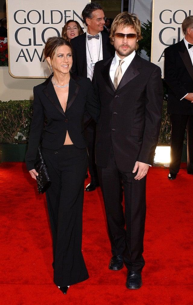 Jennifer Aniston and Brad Pitt 2002 Golden Globes