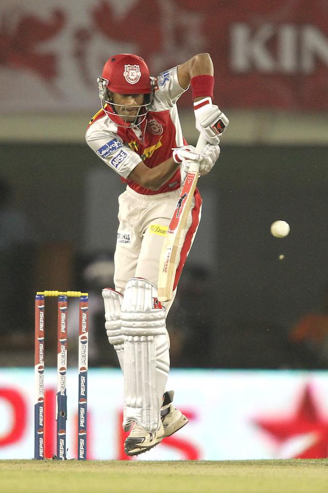 Gurkeerat Mann Singh of Kings XI Punjab plays a delivery through the leg side during match 11 of of the Pepsi Indian Premier League between The Kings XI Punjab and the Chennai Superkings held at the PCA Stadium, Mohal, India  on the 10th April 2013..Photo by Shaun Roy-IPL-SPORTZPICS  ..Use of this image is subject to the terms and conditions as outlined by the BCCI. These terms can be found by following this link:..https://ec.yimg.com/ec?url=http%3a%2f%2fwww.sportzpics.co.za%2fimage%2fI0000SoRagM2cIEc&t=1490414229&sig=1h3DtZT01gYyayqPeG9hNA--~C