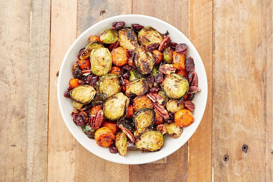 "<p>Do yourself a favor and skip the wilted green salad.</p><p>Get the recipe from <a href=""https://www.delish.com/cooking/recipe-ideas/recipes/a50228/holiday-roasted-vegetables-recipe/"" rel=""nofollow noopener"" target=""_blank"" data-ylk=""slk:Delish"" class=""link rapid-noclick-resp"">Delish</a>.</p>"